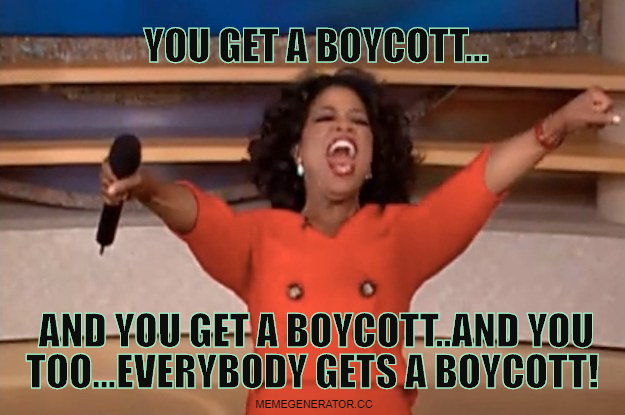 everybody gets a boycott